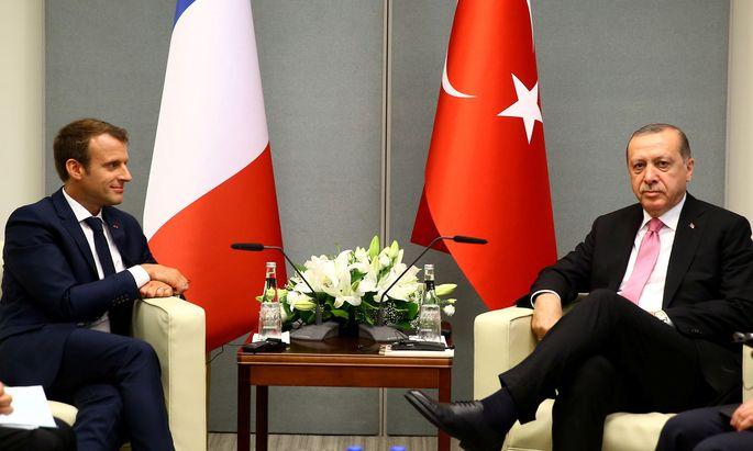 Der französische Präsident Emmanuel Macron und der türkische Präsident Tayyip Erdogan.