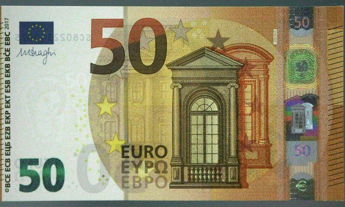 Am häufigsten wird der 50-Euro-Schein gefälscht.