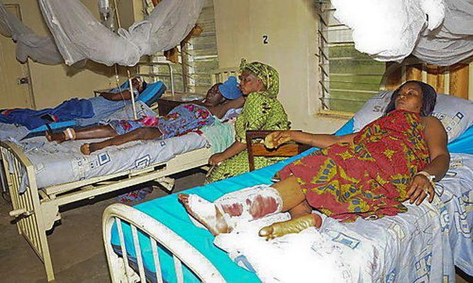 Verletzte in Jos.
