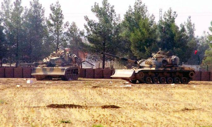 Türkische Panzer in Syrien: Seit Ende August 2016 war das türkische Militär dort im Einsatz.
