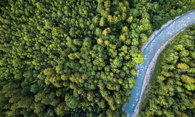 Archivbild: Eine Luftaufnahme aus den Schweizer Alpen.