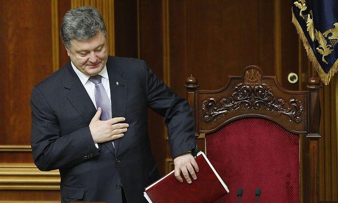 Der neue ukrainische Präsident Poroschenko will den Osten des Landes befrieden