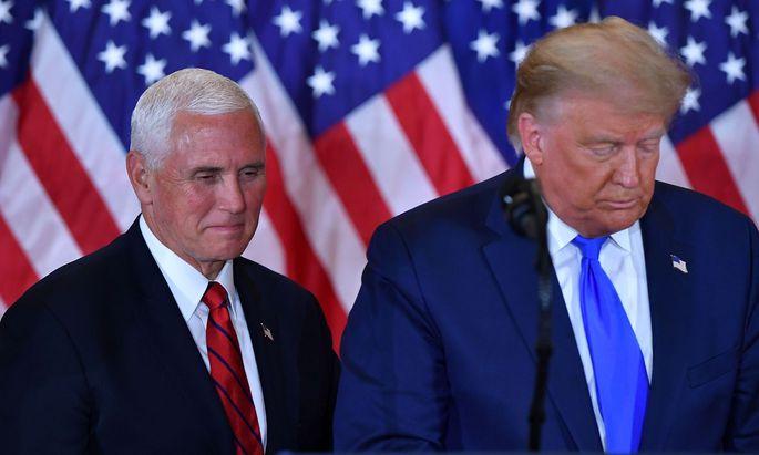 Mike Pence will die Absetzung von Donald Trump nicht vorantreiben