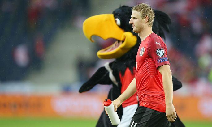 Martin Hinteregger nach dem Spiel gegen Lettland.