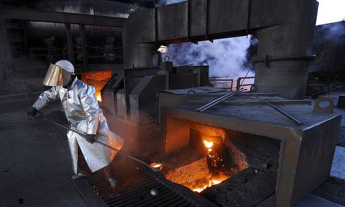 Archivbild: Stahlproduktion am voestalpine Standort Donauwitz