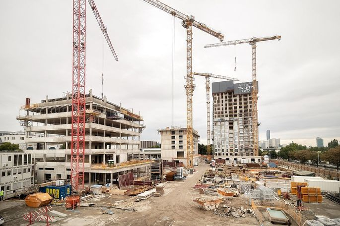 Baustelle in Wien Donaustadt