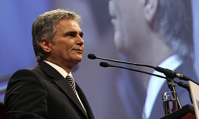 Kanzler Werner Faymann beim 64. Landesparteitag der Wiener SPÖ.
