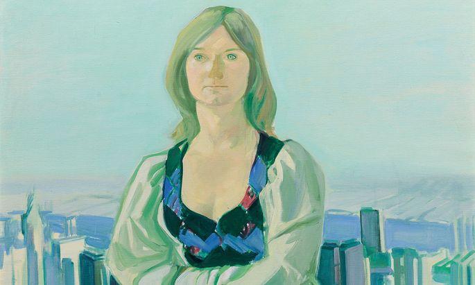 Das Porträt einer Freundin mit Blick auf New York von Maria Lassnig ist das teuerste Los in der Auktion Zeitgenössischer Kunst im Auktionshaus im Kinsky. Die Schätzung liegt bei 120.000 bis 240.000 Euro.