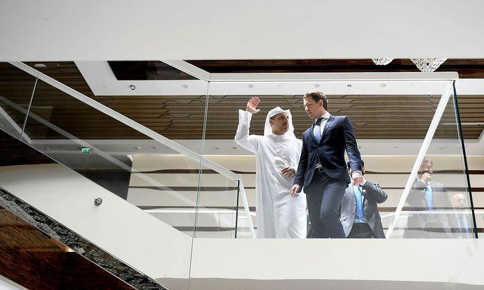 Bundeskanzler Kurz sprach 2018 in Abu Dhabi auch Probleme von Red Bull und Waagner-Biro an.