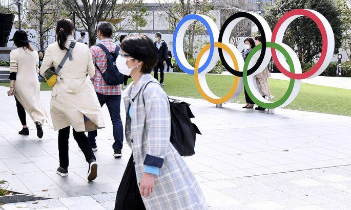 Sport Bilder des Tages TOKYO Olympische Spiele 2020 Olympische Ringe Olympia Stadion in Tokyo Olympiapark am 22.Maerz 20