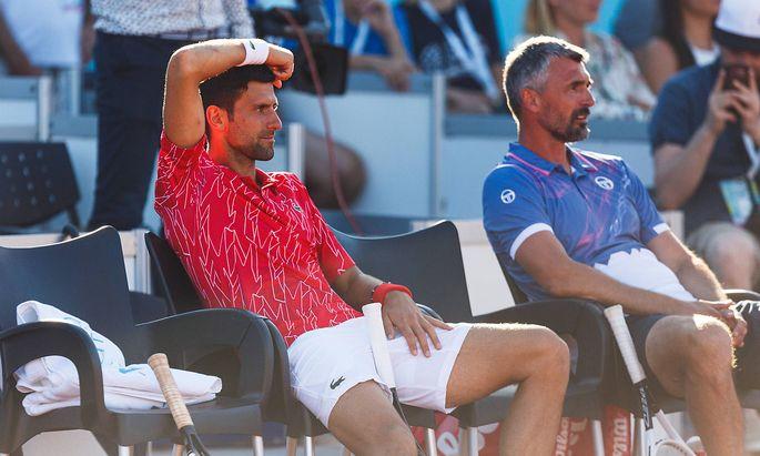 Goran Ivanisevic (r.) mit Novak Djokovic in Zadar