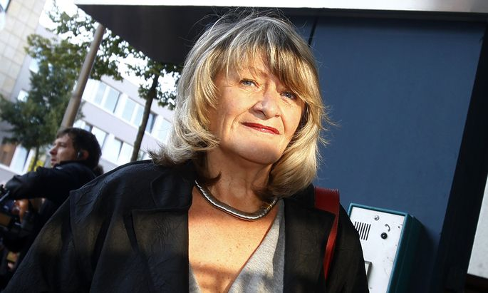 Women´s right activist and publisher Alice Schwarzer arrives for the trial against Swiss meteorologist and TV weather host Joerg Kachelmann at the district court in Mannheim