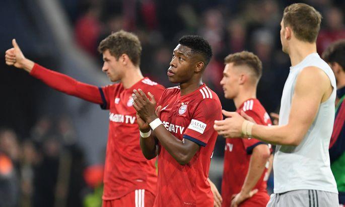 Ernüchterung in München: Müller, Alaba und Neuer nach dem 1:1 gegen Freiburg.