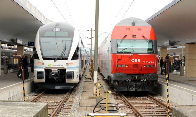 Seit 2011 macht die Westbahn den ÖBB auf der Strecke zwischen Wien und Salzburg Konkurrenz.