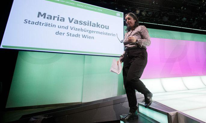 Selbstkritik und Analyse der grünen Lage: Bei ihrer Rede auf der Landesversammlung zeigte sich Maria Vassilakou emotional.