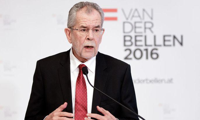 Bundespräsidentschaftskandidat Alexander Van der Bellen.