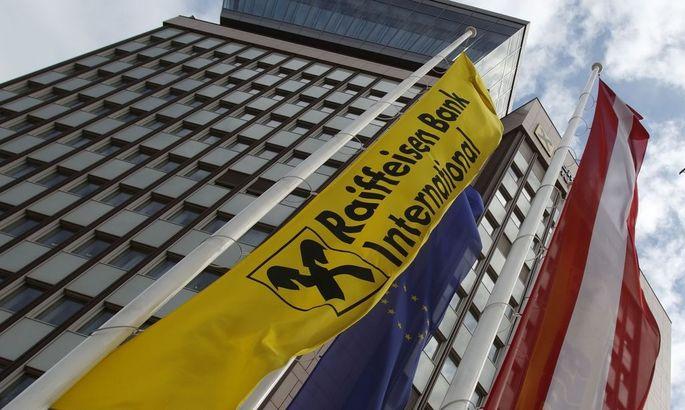 Austria's Raiffeisen Bank International headquarters is pictured in Vienna