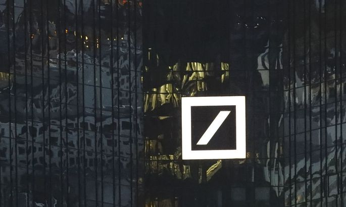 The headquarters of Germany's Deutsche Bank are photographed in Frankfurt