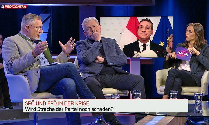 Seit langem keine Parteifreunde mehr: Mölzer und Stadler saßen nicht lange nebeneinander.