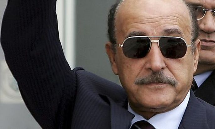 File photo of Egyptian Intelligence Chief Omar Suleiman