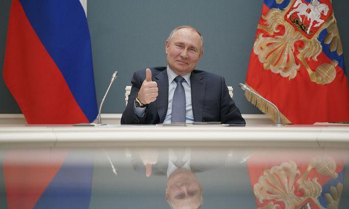 Russlands Präsident Wladimir Putin am 10. März 2021.