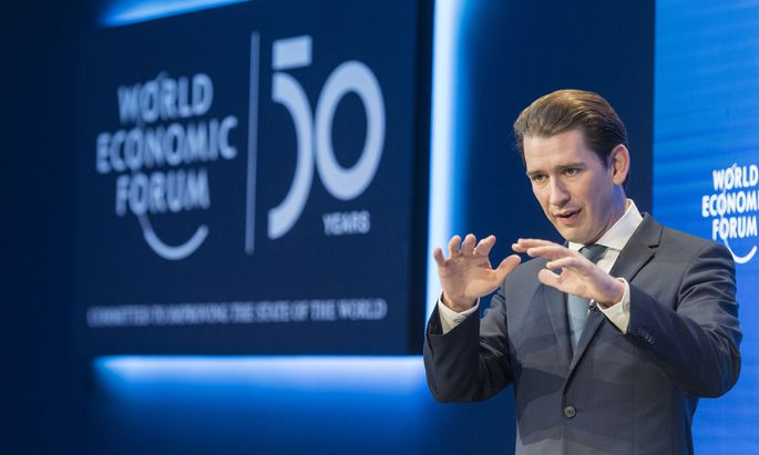 Sebastian Kurz in Davos.
