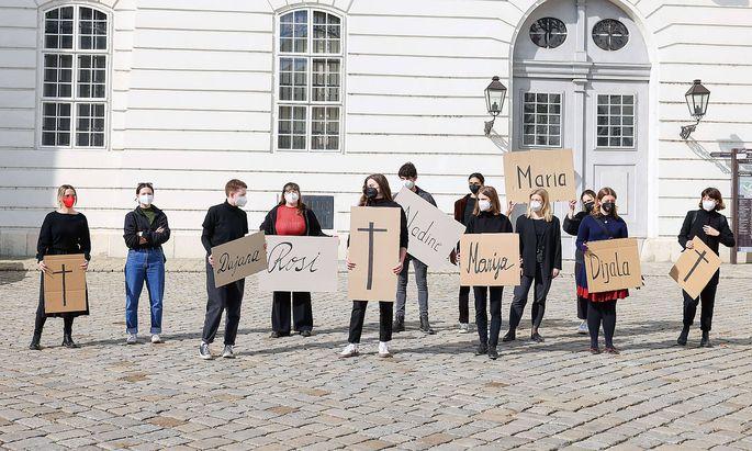 Die SPÖ-Frauen starteten eine Kampagne für mehr Gewaltschutz.