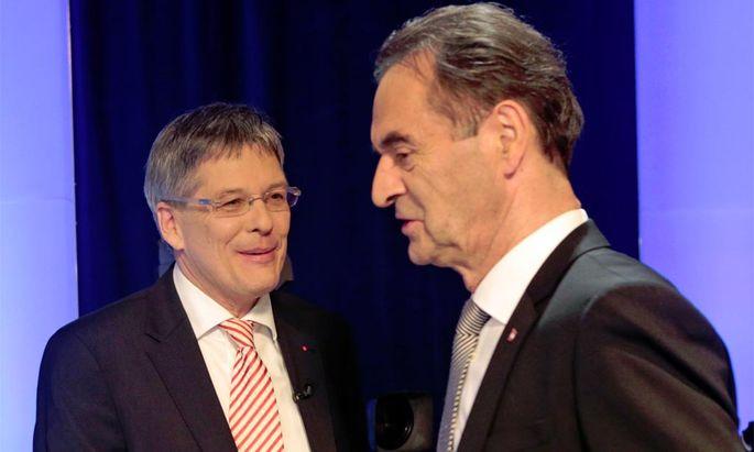Eine Postenbesetzung bringt Kärntens SP-Chef Kaiser (links) in Bedrängnis.