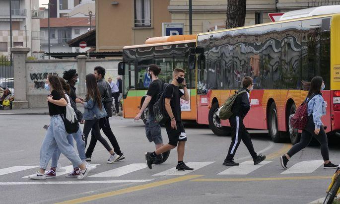 Schulstart nach sechs Monaten in Bergamo