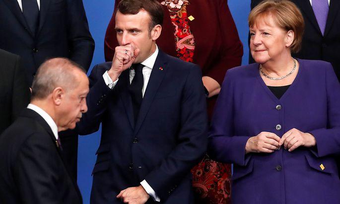 Erdogan, Macron und Merkel beim Nato-Gipfel in Watford