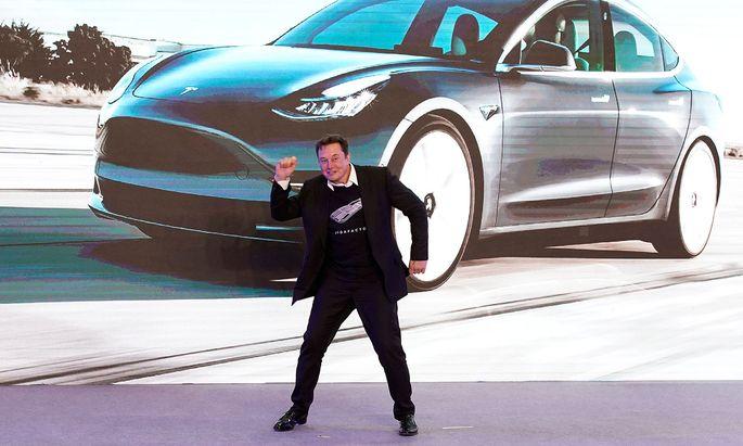 Nach den steilen Anstiegen rutschte die Tesla-Aktie kurzfristig in einen Bärenmarkt (Im Bild: Tesla-CEO Elon Musk).