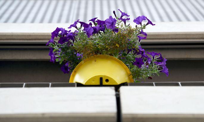 Bloß Personen sollten nicht nass werden, wenn im Stockwerk darüber die Blumen gegossen werden.