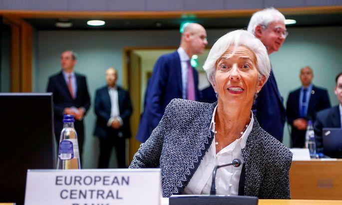 Entscheidung: Neue EZB-Chefin Lagarde belässt Leitzins bei null Prozent