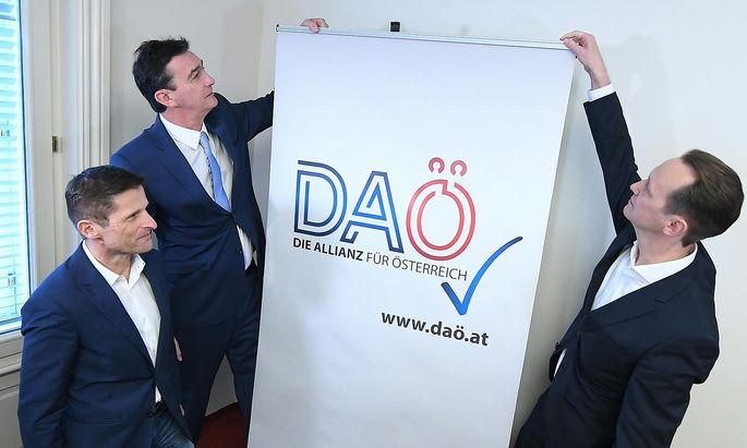 DAÖ-Gründer Dietrich Kops, Karl Baron und Klaus Handler