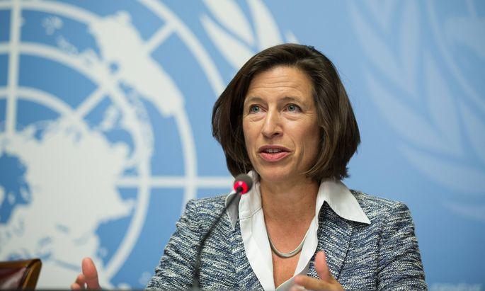 150915 GENEVA Sept 15 2015 Melissa Fleming spokesperson of the United Nations High Commi