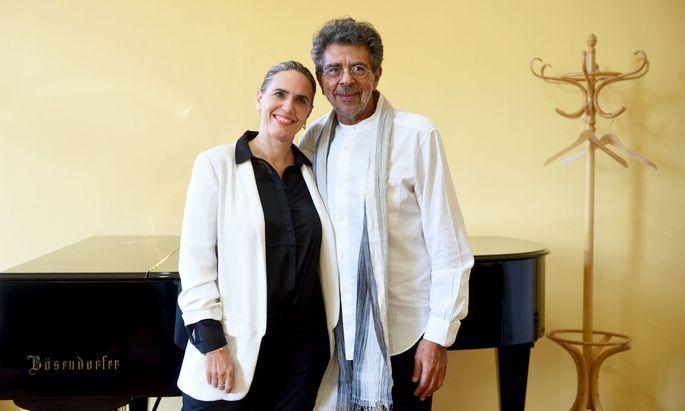 Komponist Gabriel Yared und Gastgeberin Sandra Tomek im Wiener Konzerthaus.