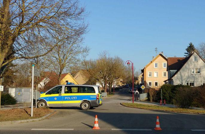 Schüsse im Ort Rot am See in Baden-Württemberg