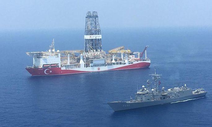 Die Türkei suchte nahe an Zypern nach Erdgasvorkommen.