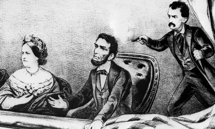 John Wilkes Booth erschießt Präsident Lincoln.