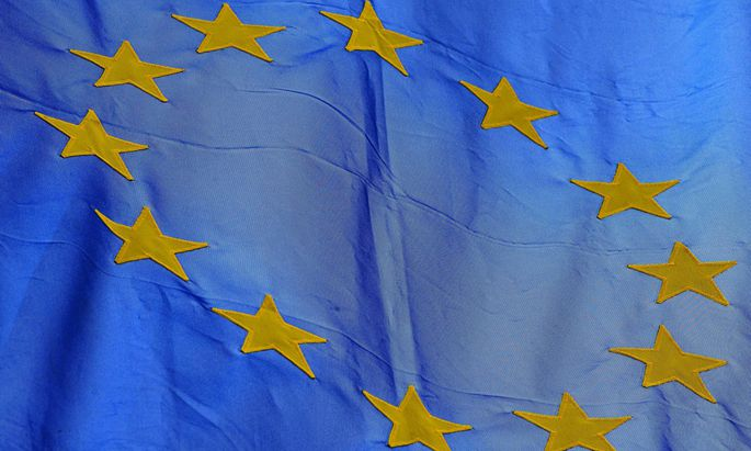 Die Europafahne ist aufgezogen in Breisach am Rhein am 13 02 2015