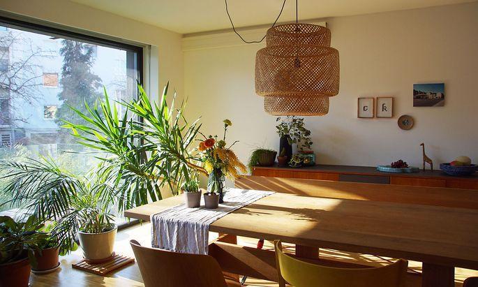 Es werde Licht: Wohnraum der Familie Hechinger in Urfahr.