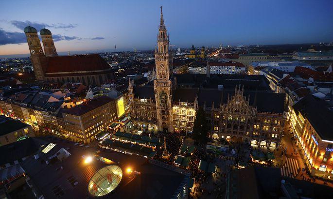 Blick über die Skyline von München