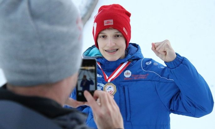 Der Wiener Louis Obersteiner ist Staatsmeister im Skispringen.