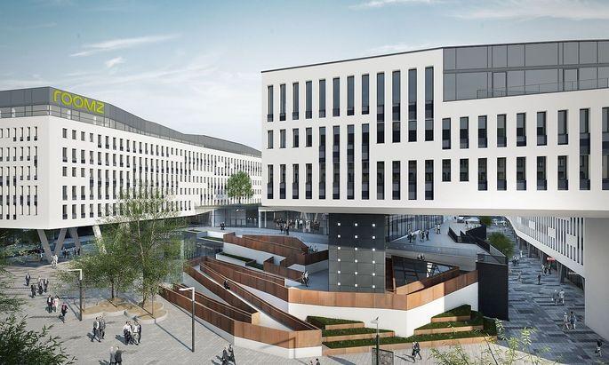 Allein der Austria Campus beim Prater wird 160.000 Quadratmeter an neuen Flächen beisteuern.