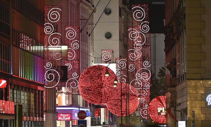 Weihnachtsbeleuchtung in der Rotenturmstraße