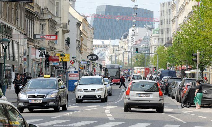 Verkehr in Wien sinkt ständig