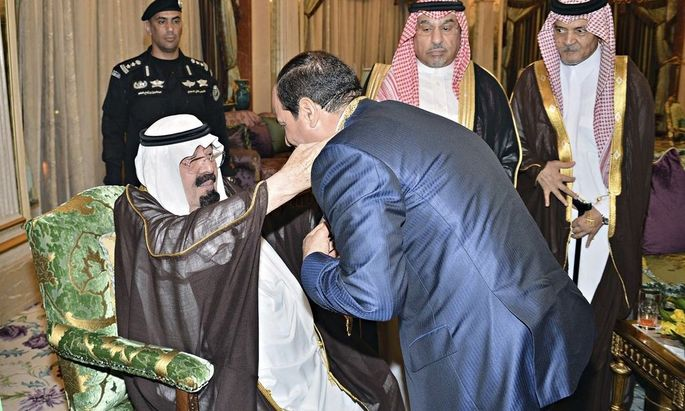 König Abdullah von Saudi-Arabien empfing den ägyptischen Präsidenten al-Sisi.