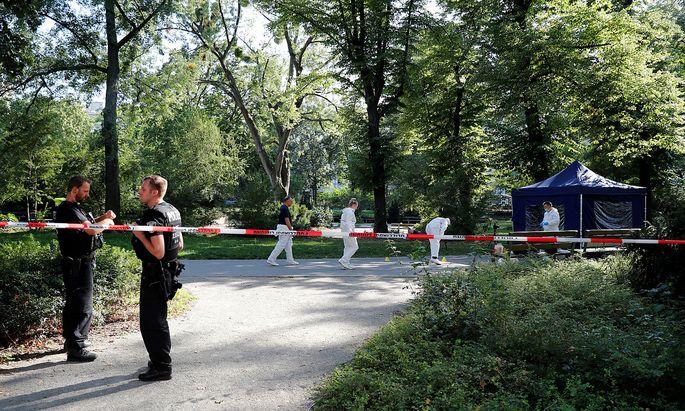 Der Tatort, aufgenommen am 23. August.