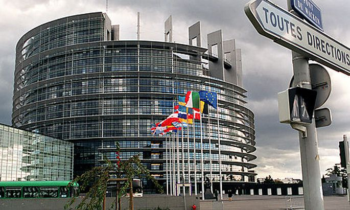 ** FILE ** Outside view of European Parliament building in Strasbourg, taken on Tuesday, October 10,