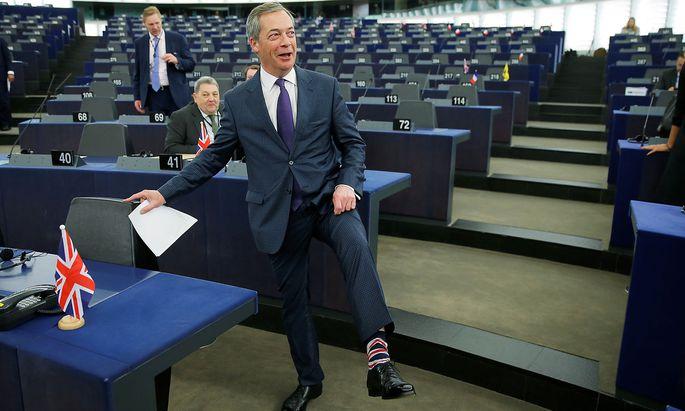 Nigel Farage könnte bei der EU-Wahl seine neue Partei an die Spitze führen und dem EU-Parlament damit einiges an Kopfzerbrechen bereiten.